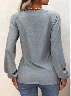 Regular Fitted Print Sequins Casual Long Sleeves
