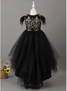 black short prom dress