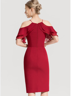 red halter neck evening dress