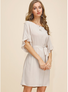 long casual dresses with sleeves