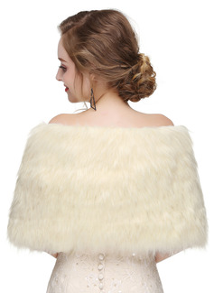 Faux Fur Wedding Shawl