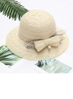 Ladies' Classic/Elegant Lace With Bowknot Beach/Sun Hats/Kentucky Derby Hats/Tea Party Hats