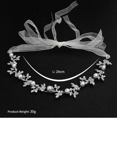 Fashion Crystal/Imitation Pearls Headbands With Venetian Pearl/Crystal (Sold in single piece)