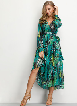 Chiffon With Print Midi Dress (199205604)