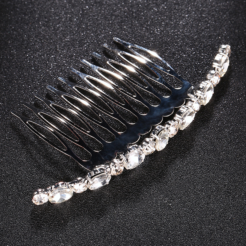 Ladies Shining Alloy Combs & Barrettes With Rhinestone