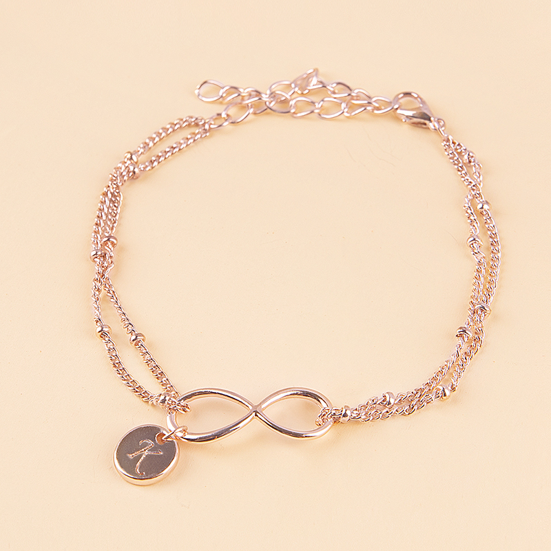 Bridesmaid Gifts - Personalized Eye-catching Alloy Initial Jewelry Bracelet