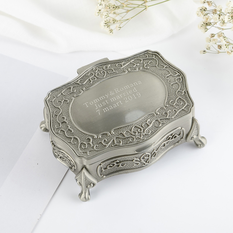 Bride Gifts - Personalized Classic Alloy Jewelry Box