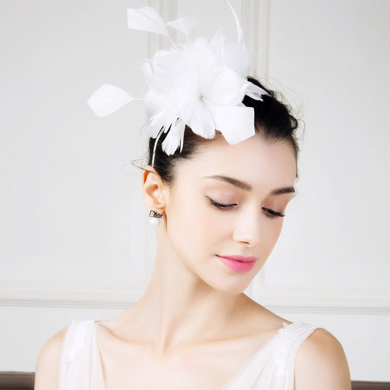Ladies' Vintage Feather With Feather/Silk Flower/Rhinestone Fascinators/Tea Party Hats