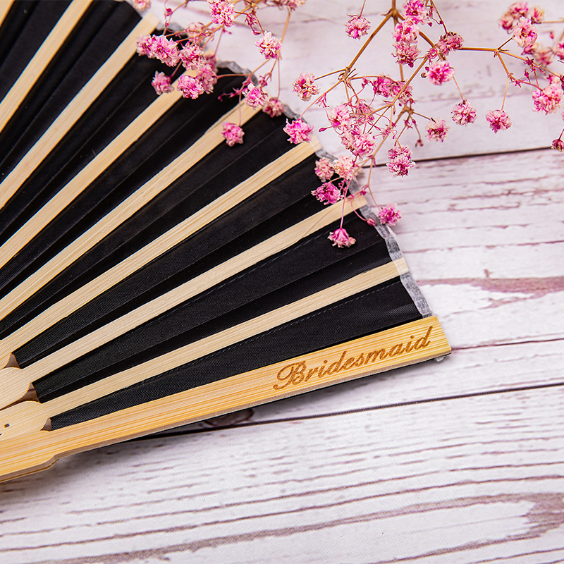 Bridesmaid Gifts - Personalized Beautiful Classic Wooden Hand Fan