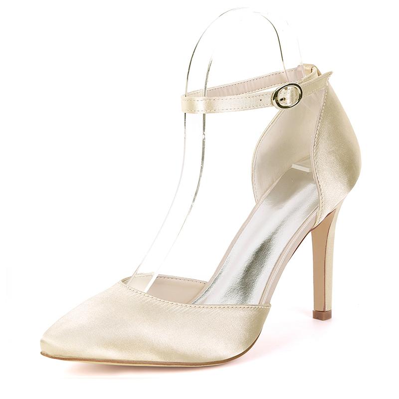 Женщины шелка как атласное Высокий тонкий каблук На каблуках с Другие