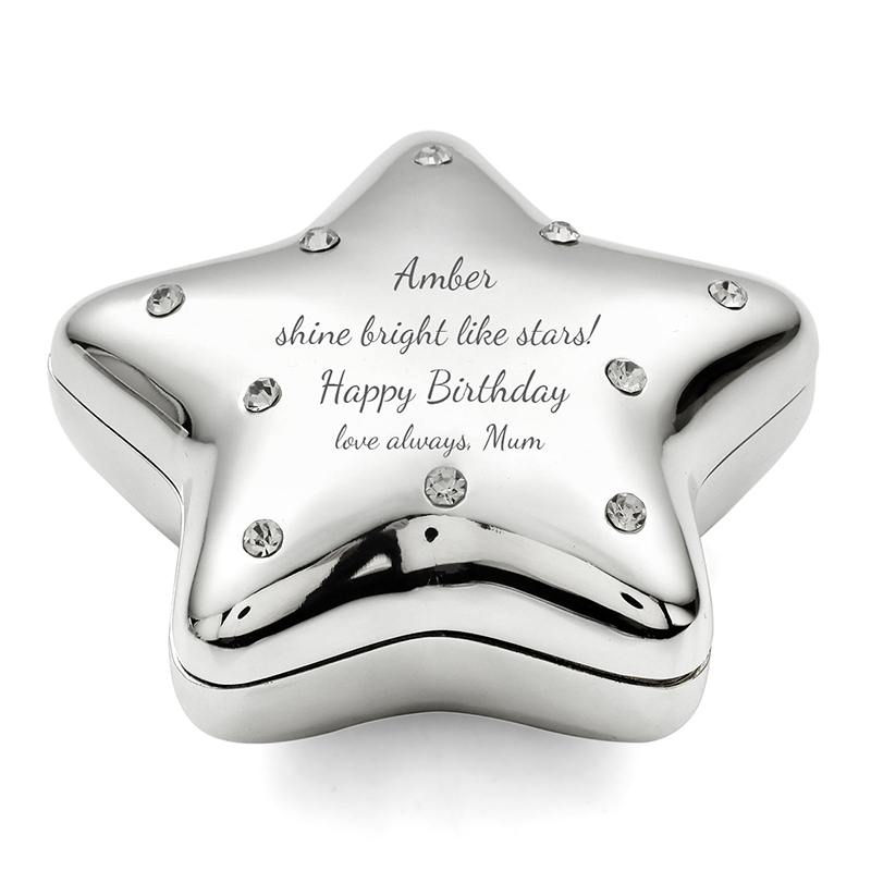 Personalized Star Design Zinc Alloy Jewelry Holders (Sold in a single piece)
