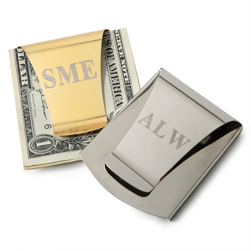 Groomsmen Gifts - Personalized Classic Stainless Steel Money Clip