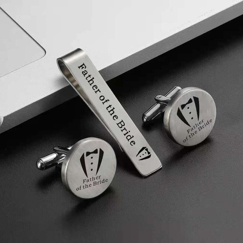 Personalized Classic Stainless Steel Cufflinks