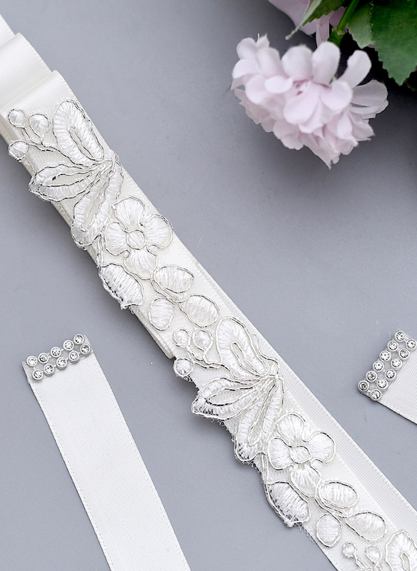 Polyester Sash With Lace