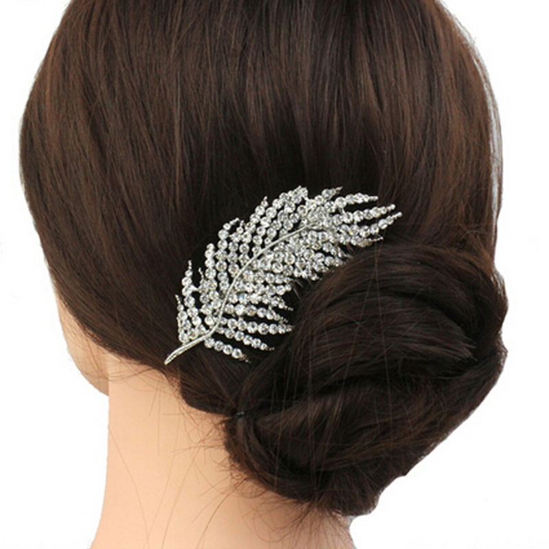 Ladies Classic Rhinestone Combs & Barrettes With Rhinestone