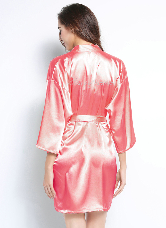 Personalized Charmeuse Bridesmaid Rhinestone Robes