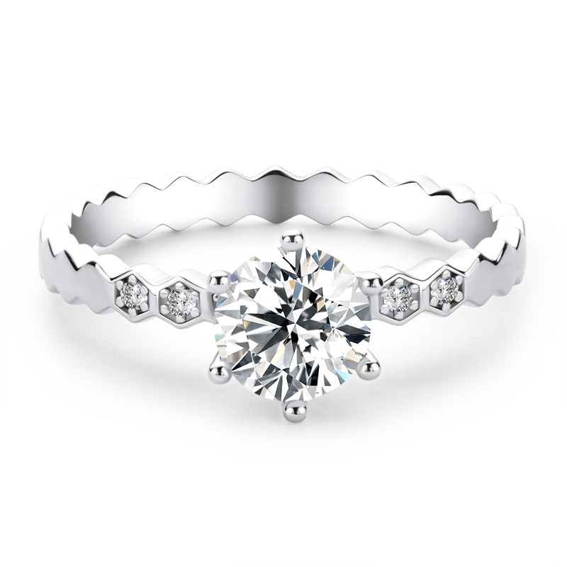 Statement & Cocktail Round Cut 925 Silver Engagement Rings