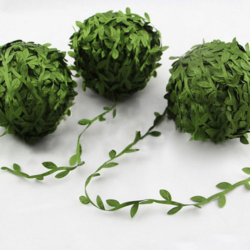 10m DArtificial Green Flower Leaves  Decorative Accessories