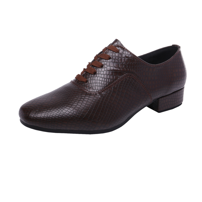 Men's Leatherette Flats Latin Modern Ballroom Dance Shoes