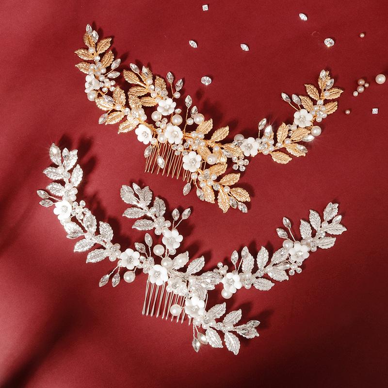 Ladies Beautiful Rhinestone/Imitation Pearls Combs & Barrettes With Rhinestone/Venetian Pearl (Sold in single piece)