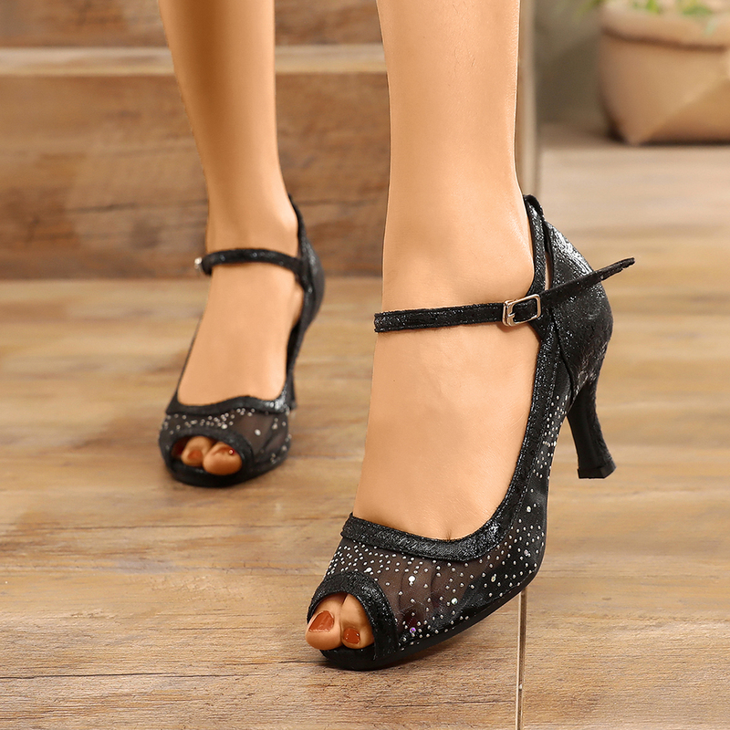 Women's Mesh Sandals Latin Modern With Hollow-out Dance Shoes
