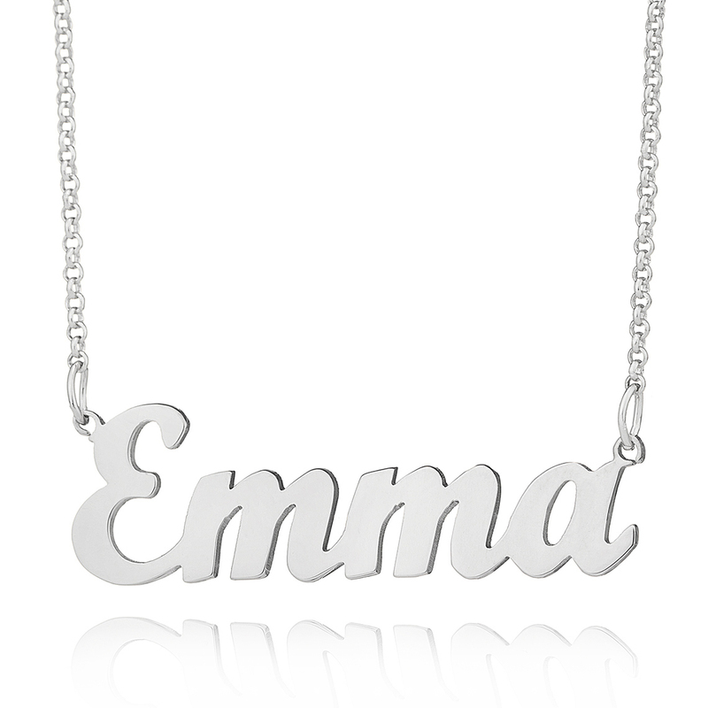 [Free Shipping]Custom Silver Letter Name Necklace - Birthday Gifts