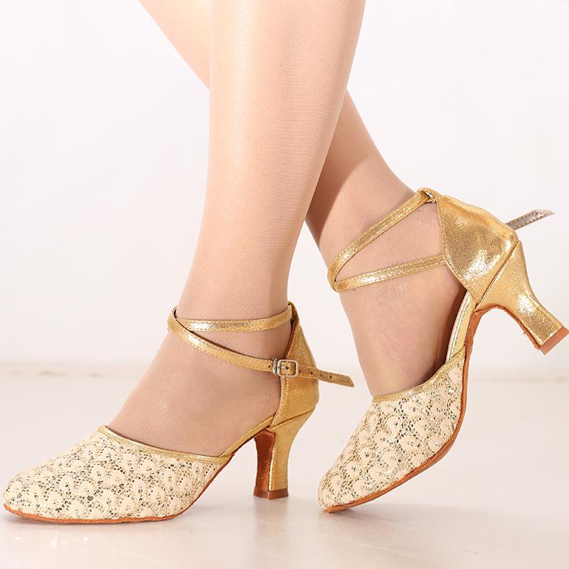 Mulheres Espumante Glitter Saltos Latino Sapatos de dança