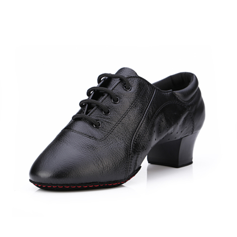 Women's Leatherette Heels Pumps Practice With Lace-up Dance Shoes