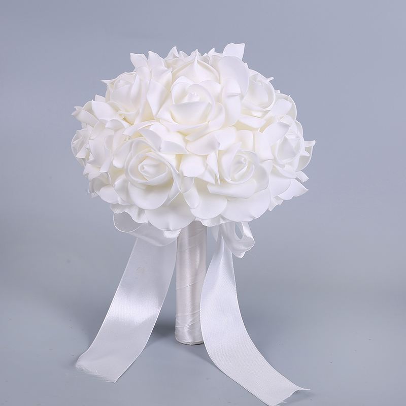 Simple And Elegant Free-Form Foam Bridal Bouquets -