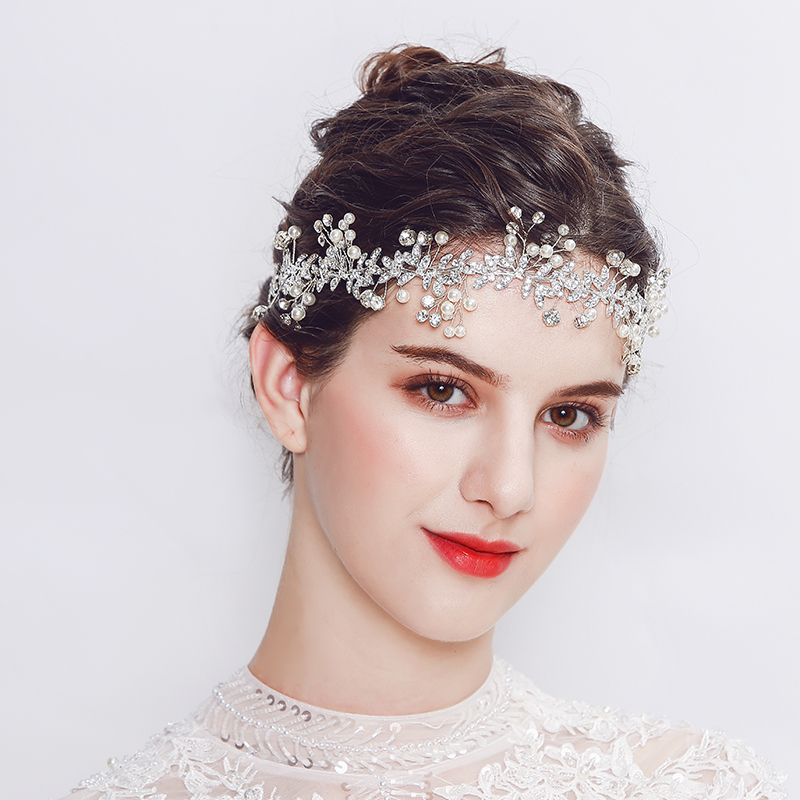 Ladies Special Alloy Headbands With Rhinestone/Venetian Pearl
