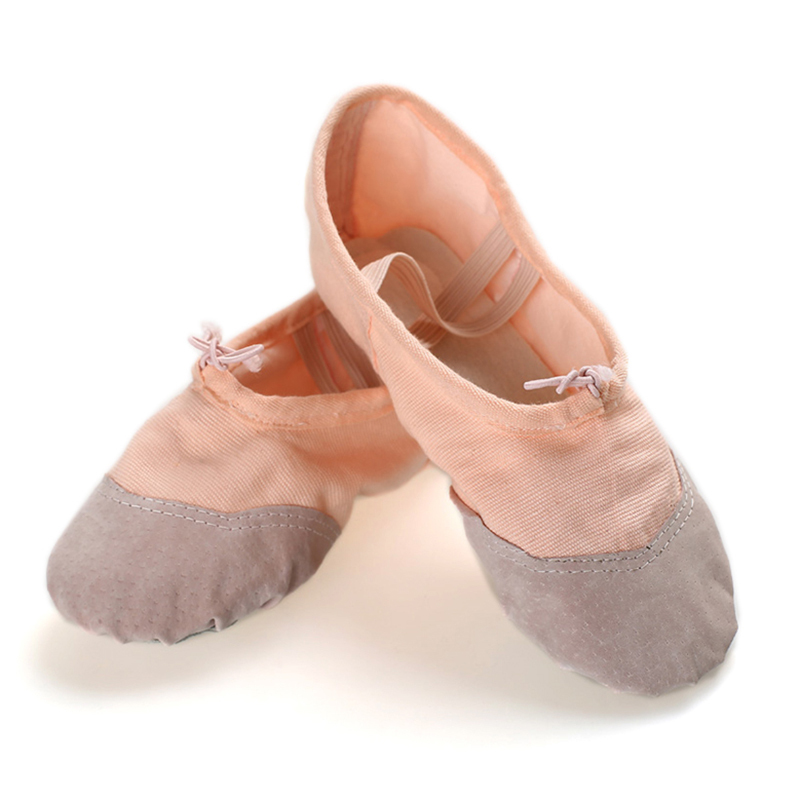 Women's Canvas Flats Ballet Belly With Lace-up Dance Shoes