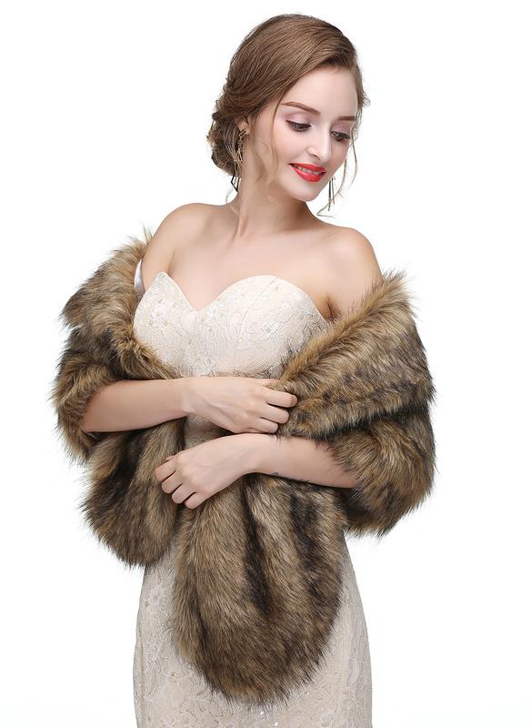 Искусственный мех свадьба Платки