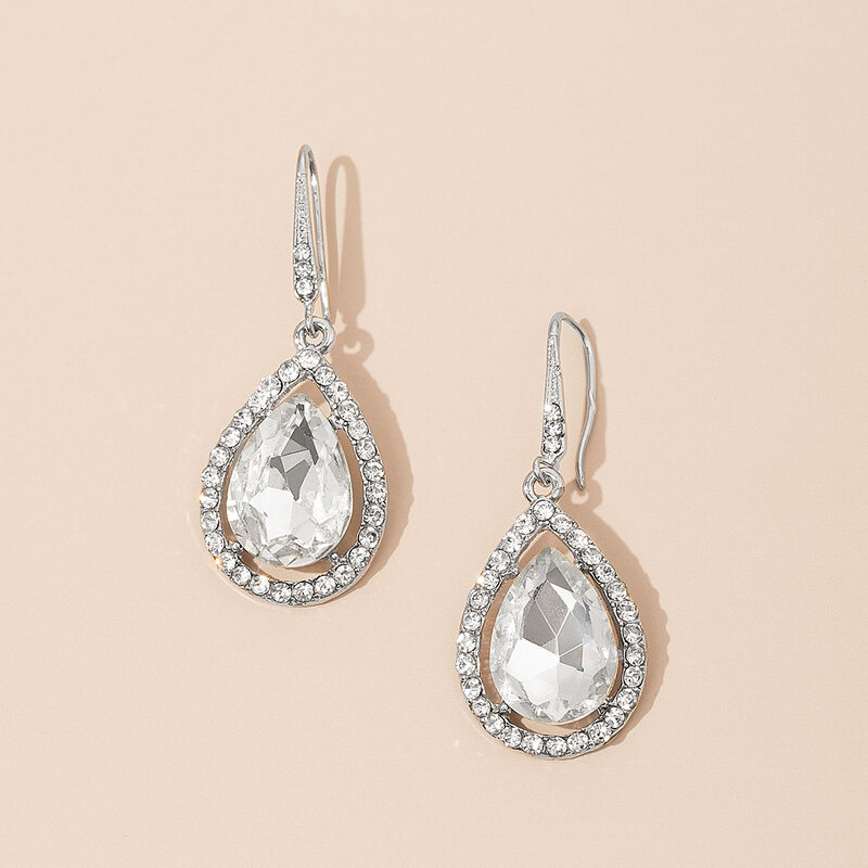 Beautiful Alloy/Rhinestones Ladies' Earrings
