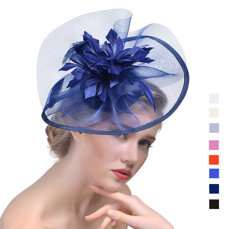Ladies' Elegant Cambric With Feather Fascinators/Tea Party Hats
