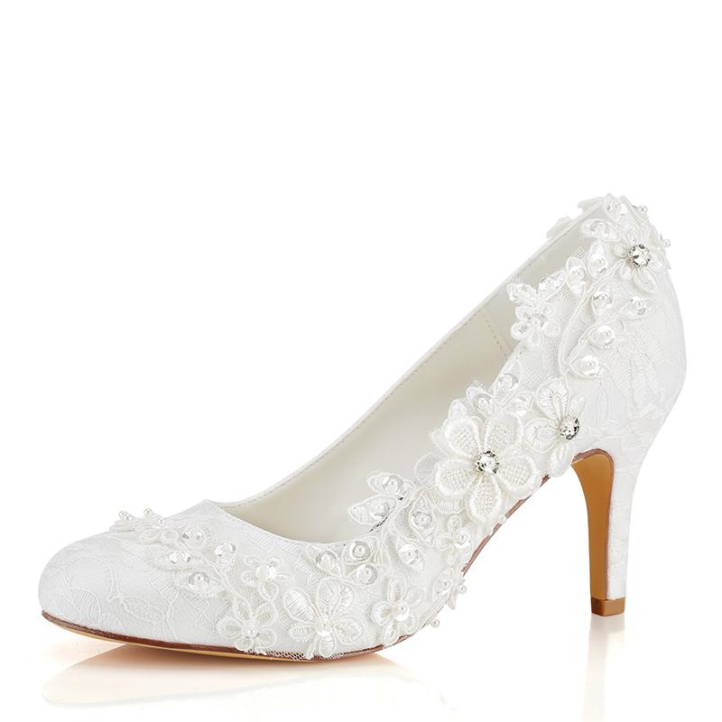 Women's Silk Like Satin Stiletto Heel Closed Toe Pumps With Applique