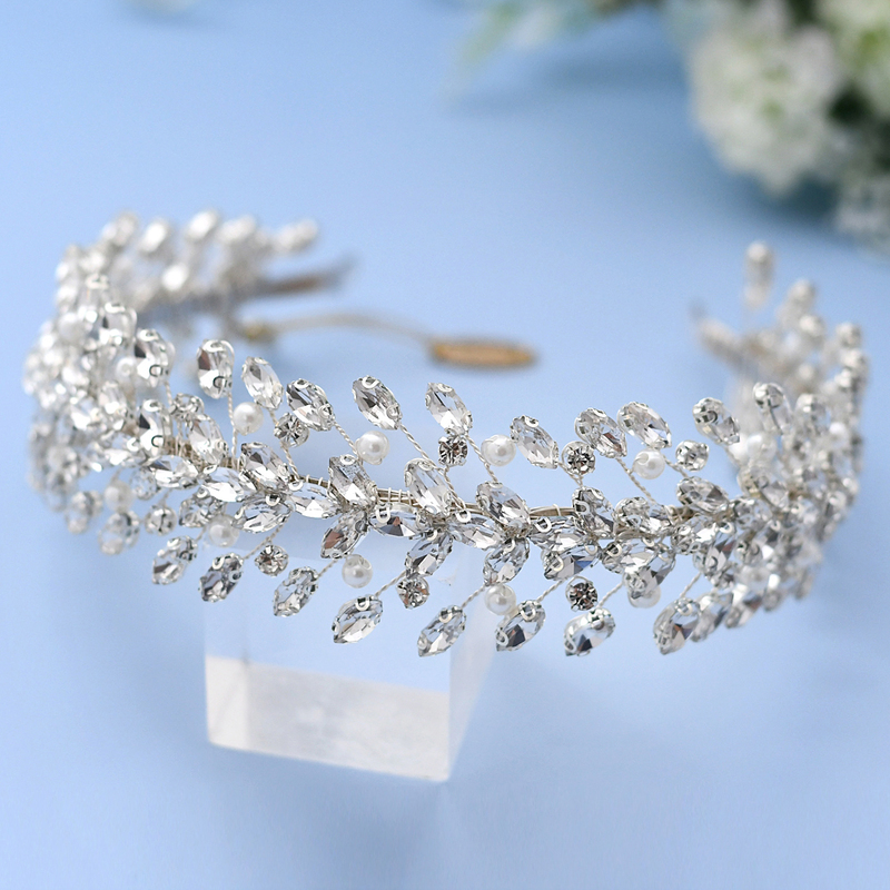 Ladies/Kids Beautiful Rhinestone/Imitation Pearls Tiaras/Headbands With Rhinestone/Venetian Pearl/Crystal/Imitation Crystal (Sold in single piece)