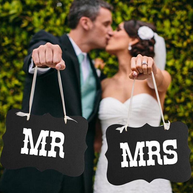 Bride Gifts - Elegant Wooden Photo Booth Prop (Set of 2)