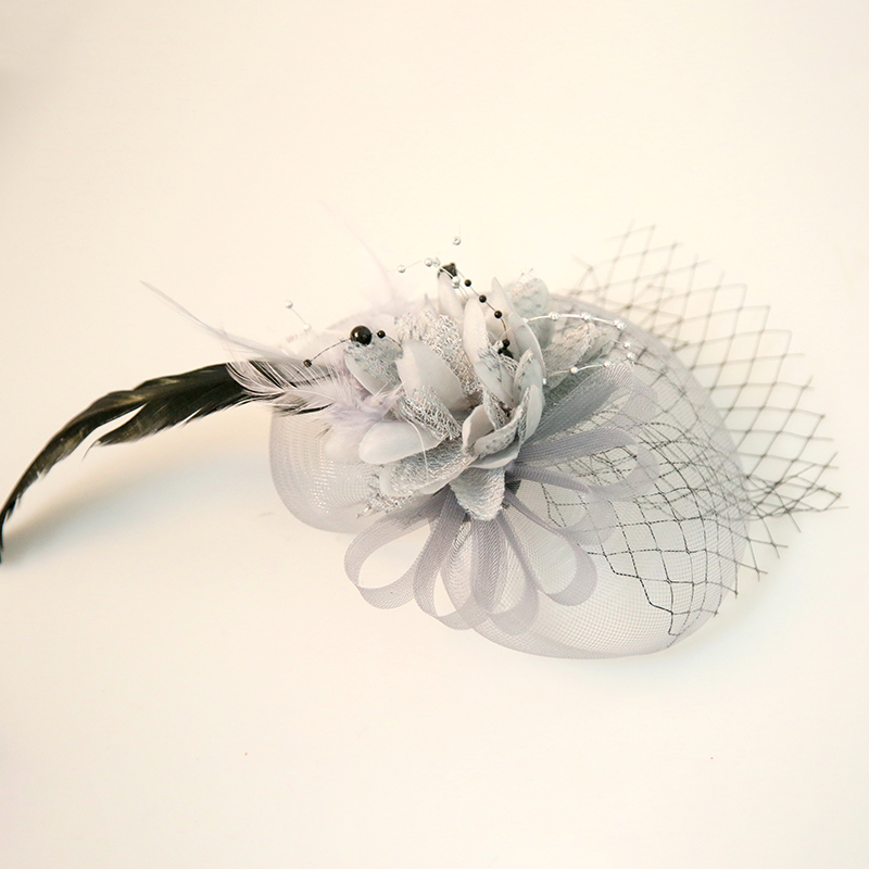 Dames Beau Feather/Fil net/Fleur en soie Chapeaux de type fascinator/Chapeaux Tea Party