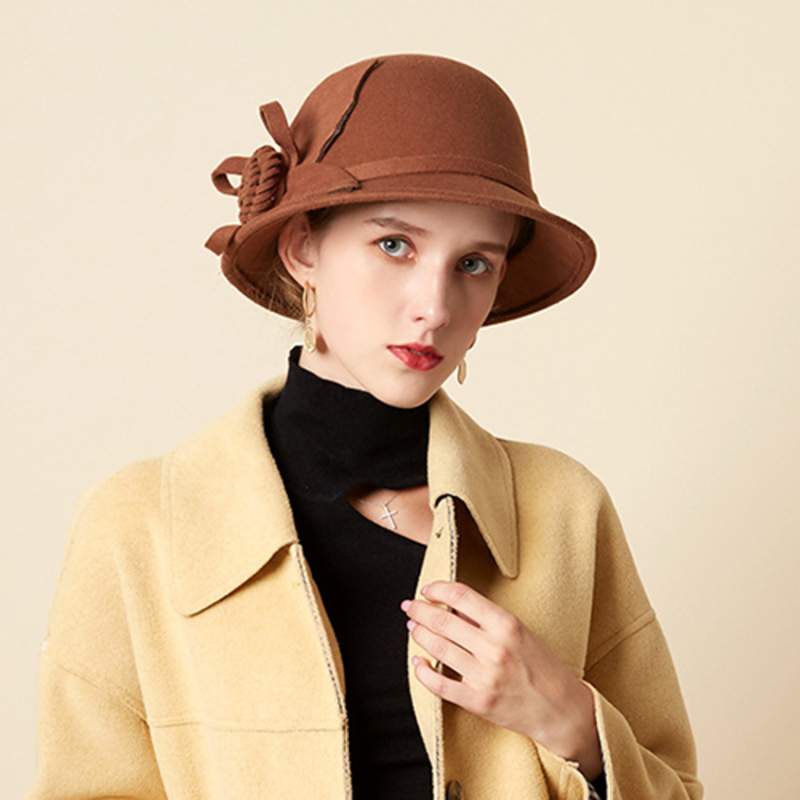 Ladies' Beautiful/Simple/Pretty Wool Blend Bowler/Cloche Hats