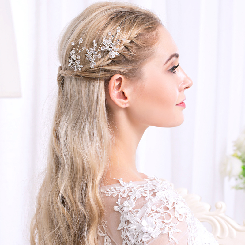 Ladies Glamourous Rhinestone/Alloy Hairpins With Rhinestone (Sold in single piece)