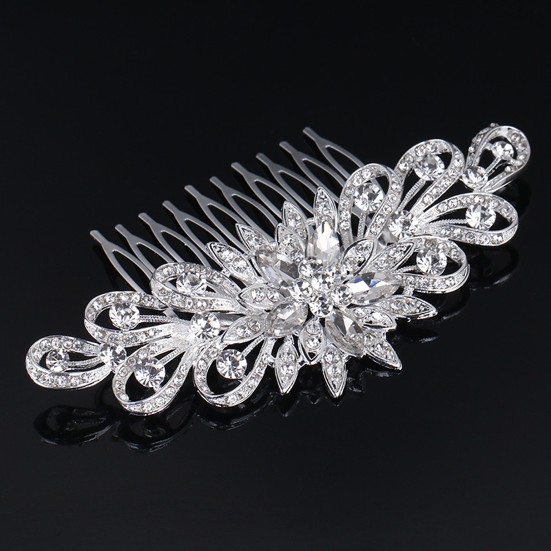 Ladies Glamourous Rhinestone/Alloy Combs & Barrettes