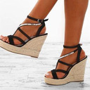 PU Wedge Heel Sandals Platform Wedges Peep Toe With Others shoes