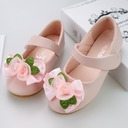 Girl's Round Toe Closed Toe Leatherette Flat Heel Flats Flower Girl Shoes With Velcro Flower