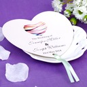 Personalized Heart Shaped Paper Hand Fans (Set of 12)