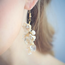 Ladies' Beautiful Alloy Rhinestone Earrings For Bride/For Bridesmaid/For Mother/For Her