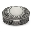 Vintage Alloy/Silver Plated Ladies' Jewelry Box