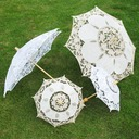 Classic/Simple Bride And Groom/Flower Design Wooden/Cotton/Lace Wedding Umbrellas