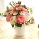 "Simple/Classic ""Beautiful Flower"" Silk Flower Artificial Flowers"
