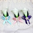 Delicate Free-Form Ribbon Boutonniere/Men's Accessories -