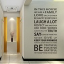 We Are Family Quote Wall Stickers For Living Room (Sold in a single piece)
